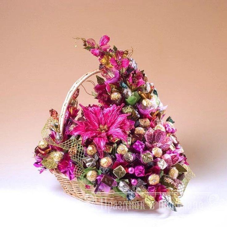 Как сделать цветы из конфет на день рождения