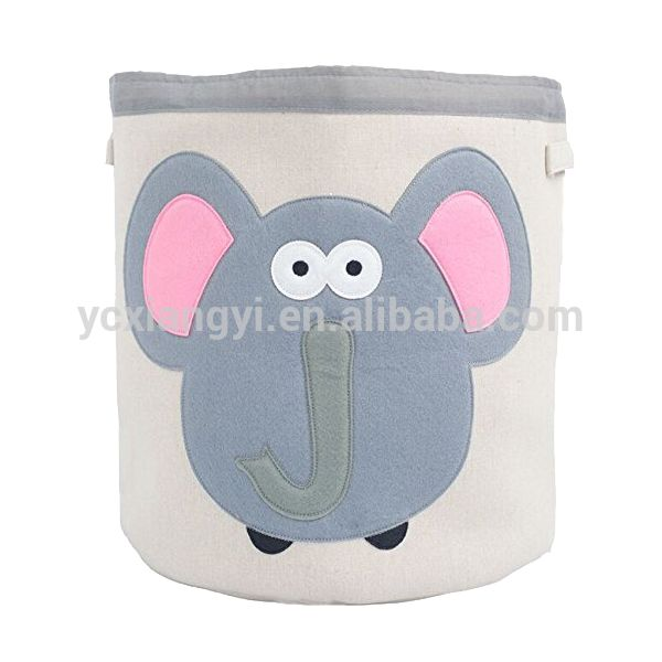 Housewares cartoon canvas toy storage bin wholesale