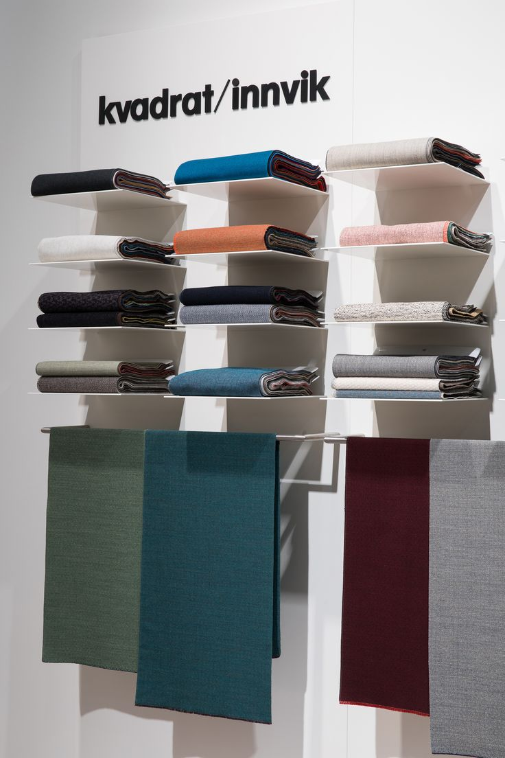 Kvadrat Innvik displaying new wool textiles in frsh colours