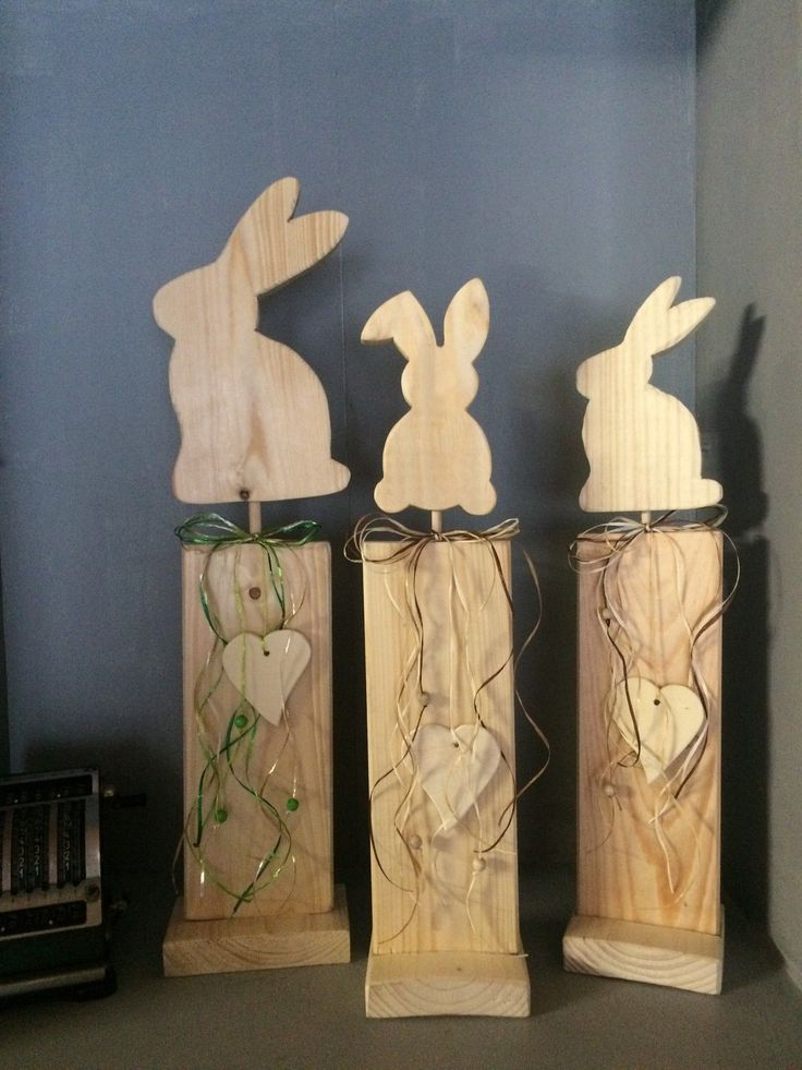 shabby chic hase ostern deko ausverkauf handarbeit osterhasen aus holz pinterest p sk. Black Bedroom Furniture Sets. Home Design Ideas