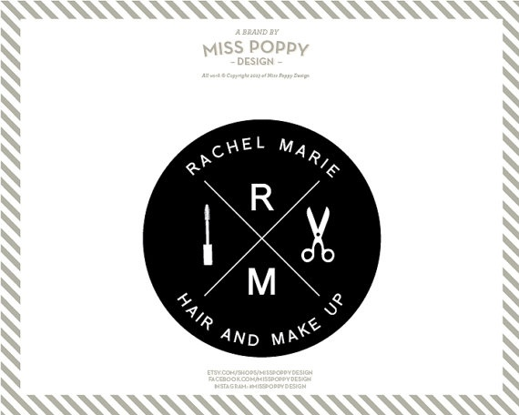 Boutique Pre Made Logo Design Graphic Custom Branding Modern Marketing Beauty Salon