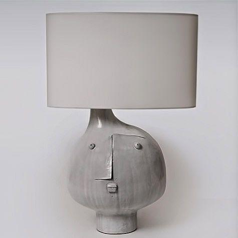 Ceramic modernist table lamp – Dalo Galerie Riviera, France
