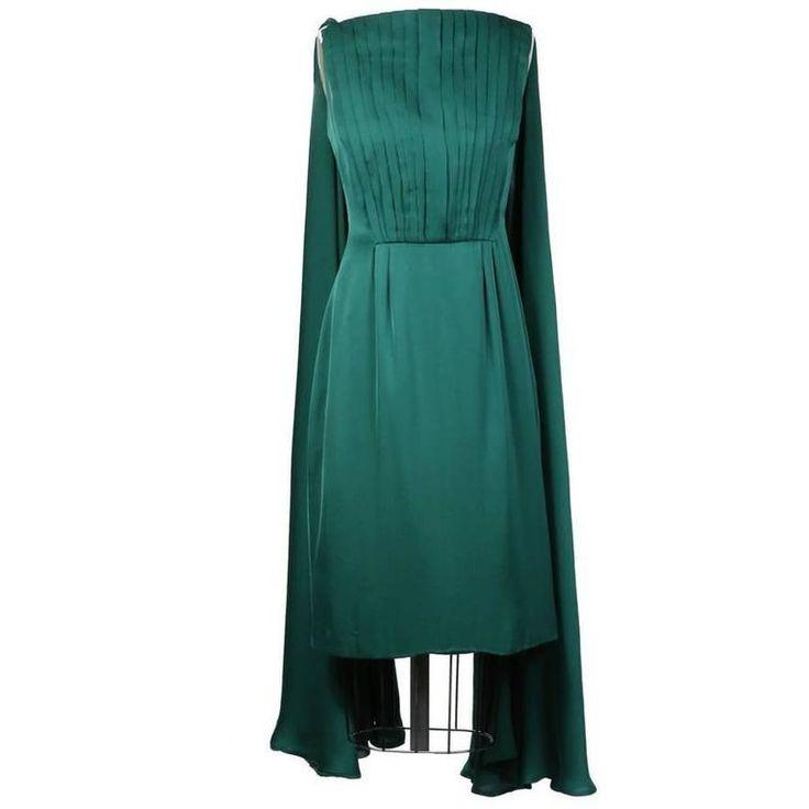 Biki Emerald Green Cocktail Dress 1959