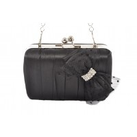 So cute!! Sabini's Spotty Bow Box-framed Evening Bag, a gorgeous little evening bag with a touch of the frivolous