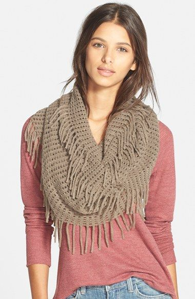 Free shipping and returns on BP. Fringe Trim Infinity Scarf at Nordstrom.com. Wrap yourself in a cozy infinity scarf styled with a loose knit and playful fringe.