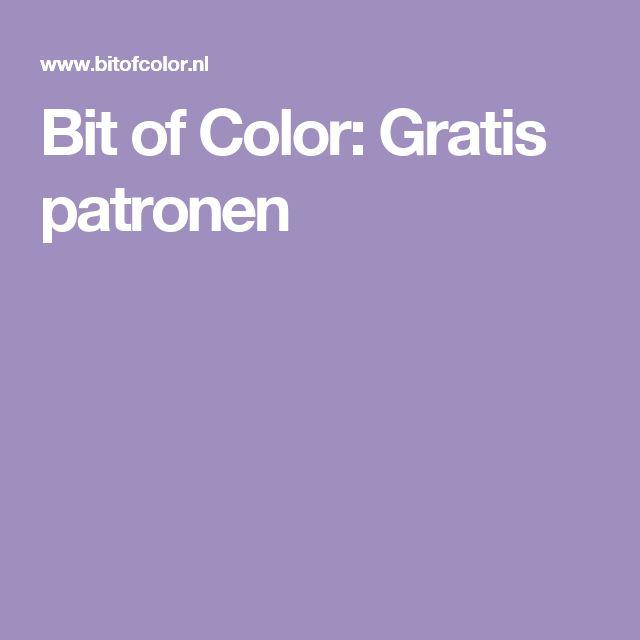 Bit of Color: Gratis patronen