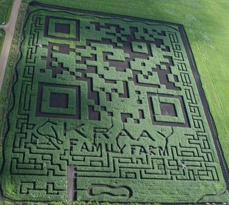 Sadly not a client, but I had to share this as a FABULOUS use of a QR code http://www.engadget.com/2012/09/12/visualized-worlds-largest-qr-code-is-a-canadian-maize-maze/