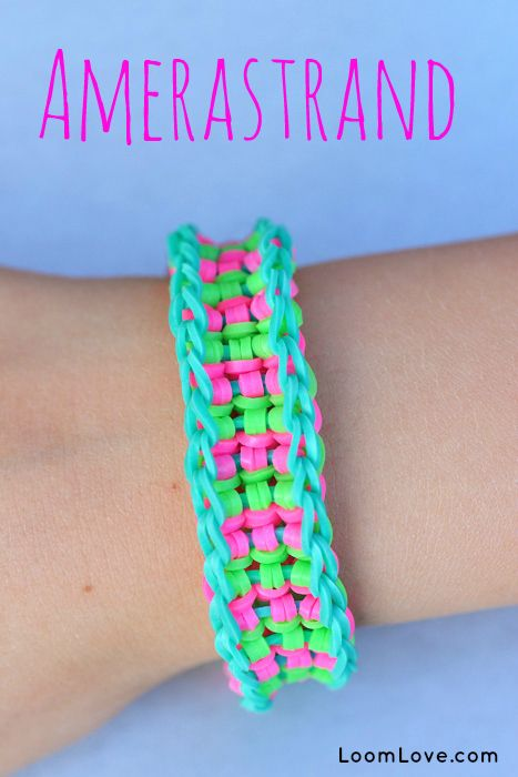 How to Make a Rainbow Loom Amerastrand #rainbowloom #monstertail