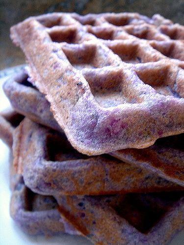 ube (purple yam) waffles