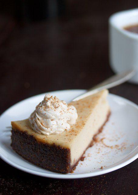 Looking good, vegan gluten-free Nog Cheesecake.