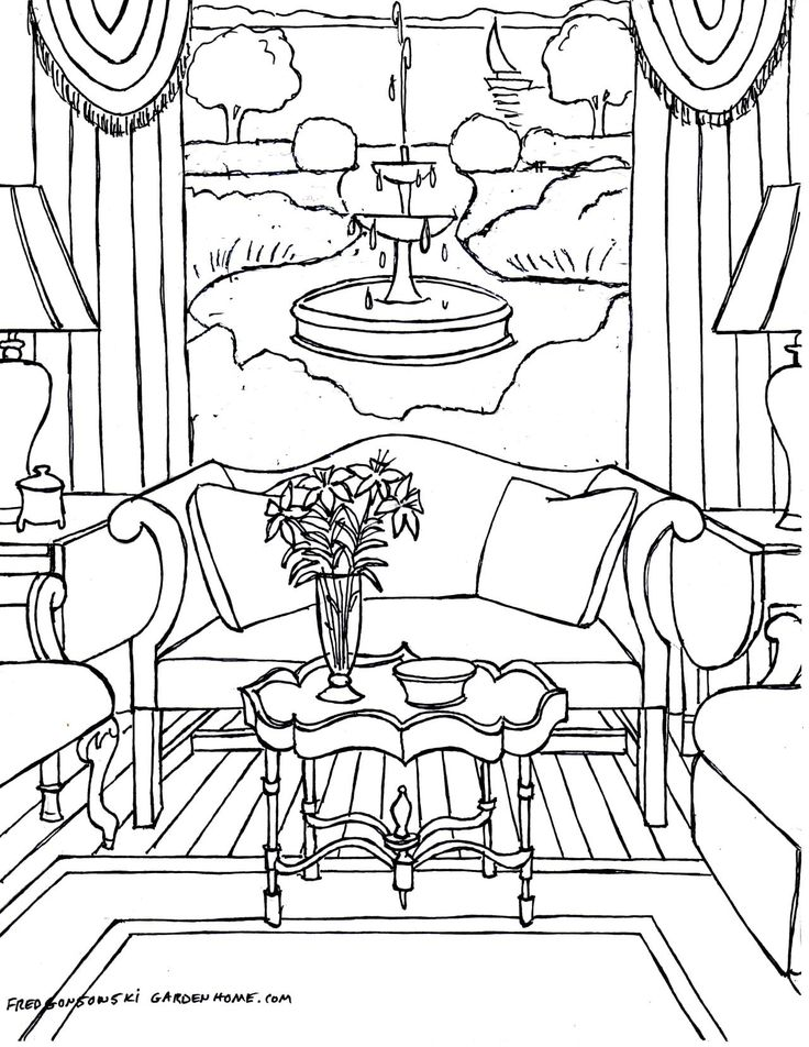 Fred Gonsowskis Home Interiors Coloring Pages For Adults