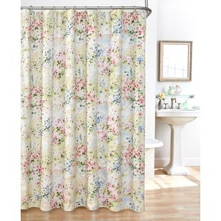 Giverny Fabric Plisse Shower Curtain Set | Overstock.com Shopping - The Best Deals on Shower Curtains