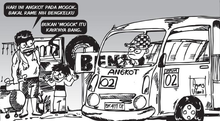 Opini-23Okt2012-Angkot Mogok. #sketch #illustration #drawing