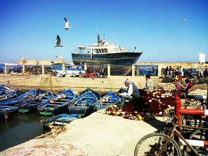 Fishermen at Porte de la Marina, Essaouira.
