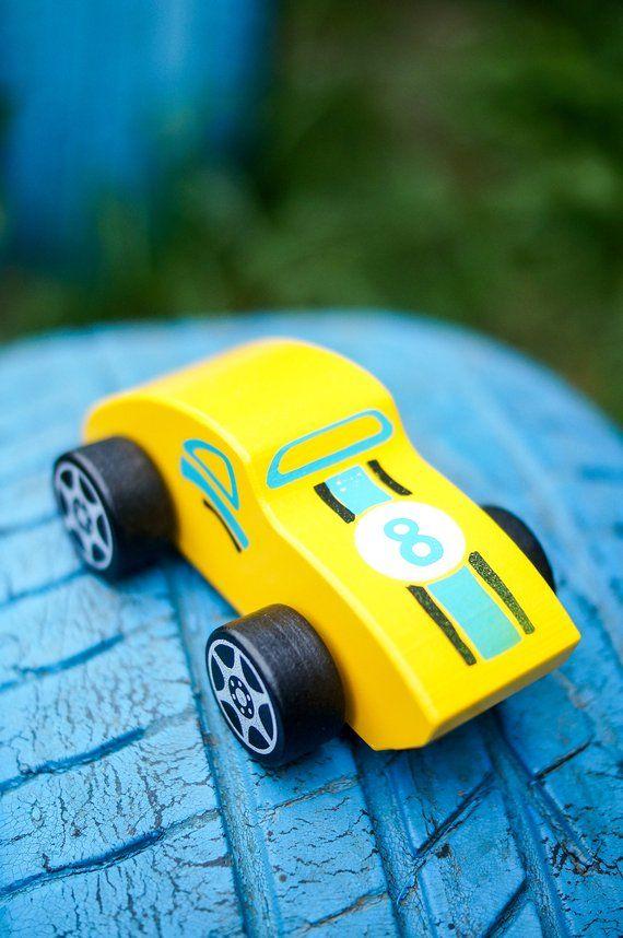 Mini Race Car Yellow Car Toy Car Wooden Car Etsy Wooden Toy Gift Toy Car Wooden Car
