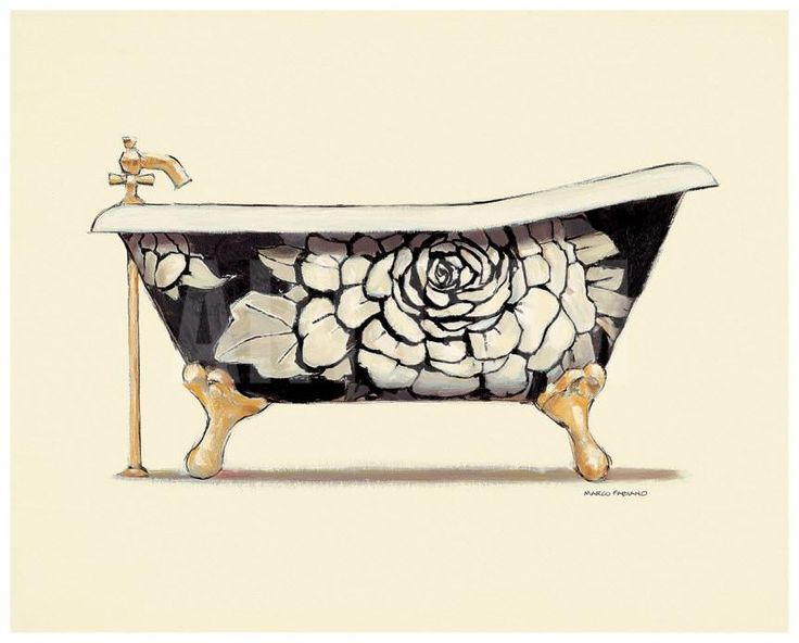Floral Bath Art Print by Marco Fabiano at eu.art.com