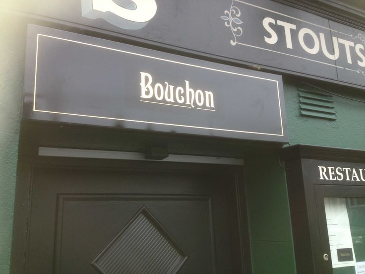 traditional handpainted signs Bouchon and Kavanagh's naas.