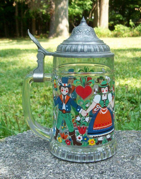 Vintage BMFN Glass German Folk Dancers Lidded by Raidersoflostloot