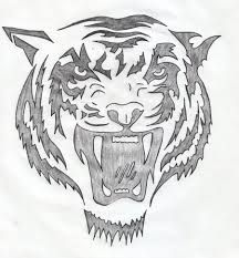 Image result for simple tiger face drawing