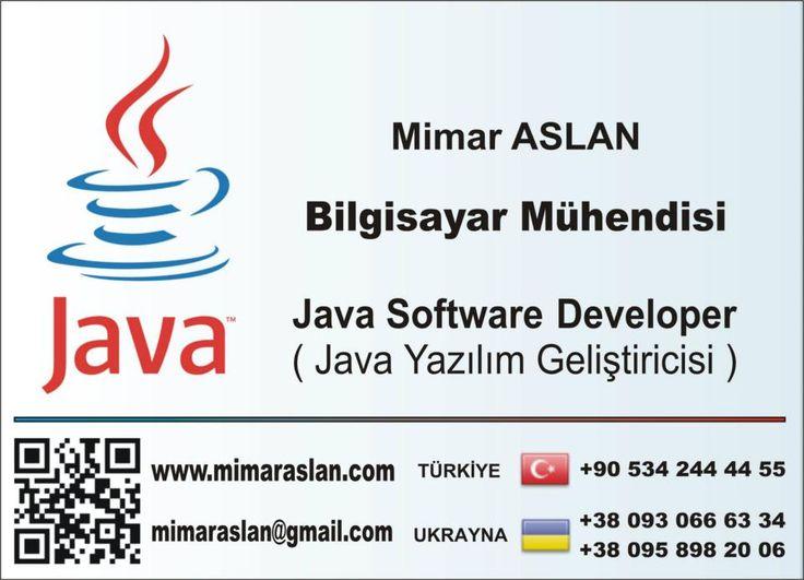 Mimar ASLAN - Java Yazılım Geliştiricisi