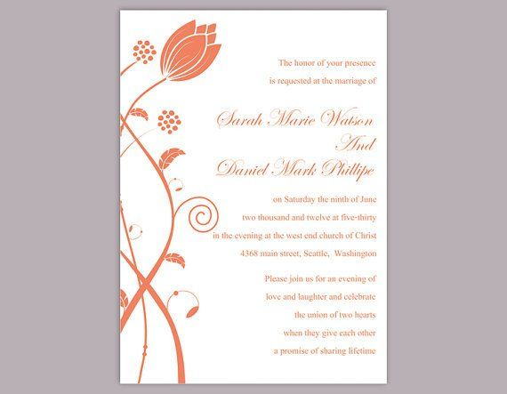 Wedding Invitation Templates Word Diy Wedding Invitation Template E In 2020 Invitation Templates Word Wedding Invitation Templates Instant Download Wedding Invitations