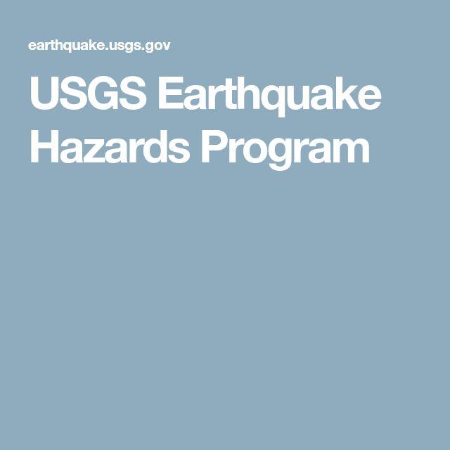 USGS Earthquake Hazards Program