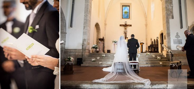 Carlo and Cristina's wedding, ceremony. Church: San Bernardino, amante a - Italy. Flower decorations with white rosse, lysianthus, and Hydrangea floating in balls full of water!