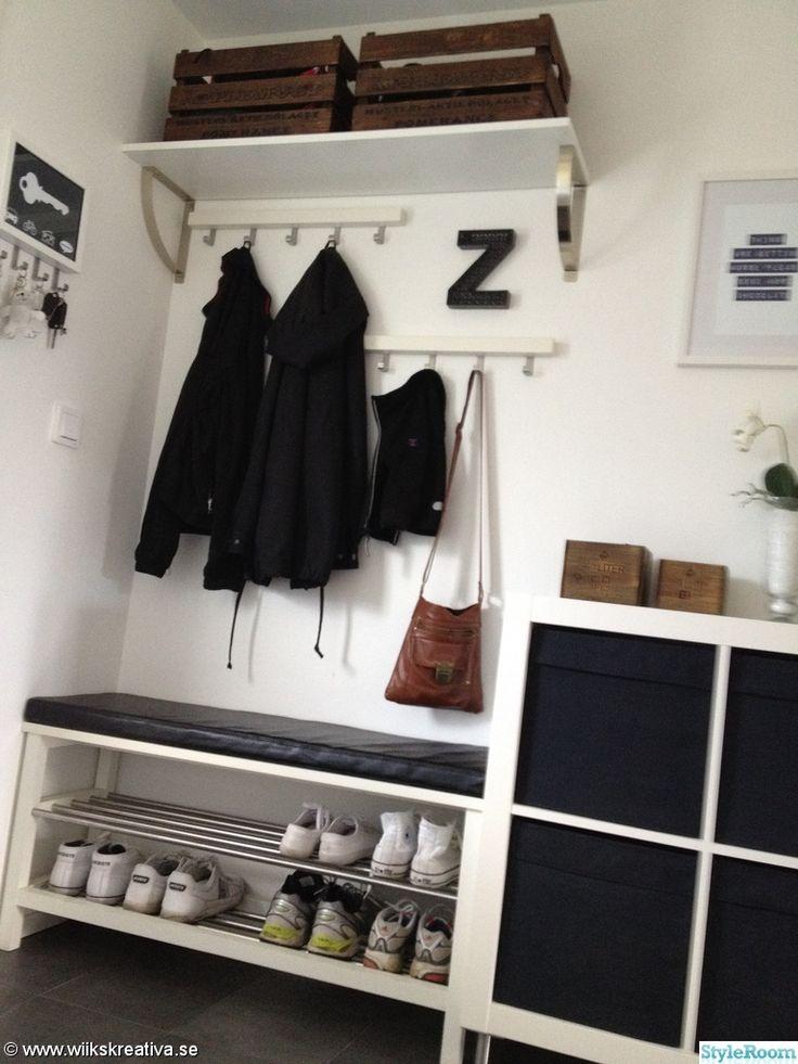 via styleroom.se - IKEA Tjusig hallway mudroom entryway