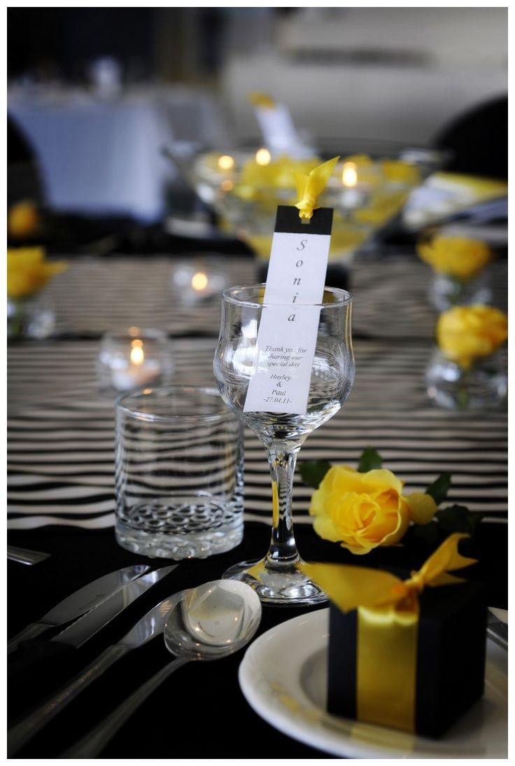 71 best yellow wedding images on pinterest yellow weddings 32 yellow black and white wedding decorations junglespirit Images
