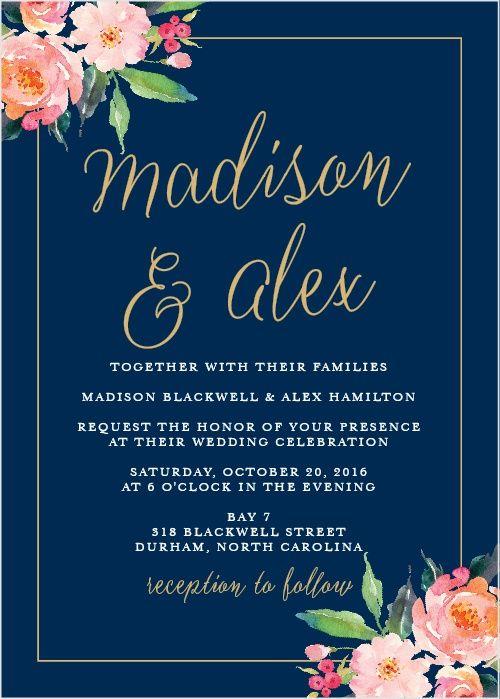 Standing Ovation Foil Wedding Invitations