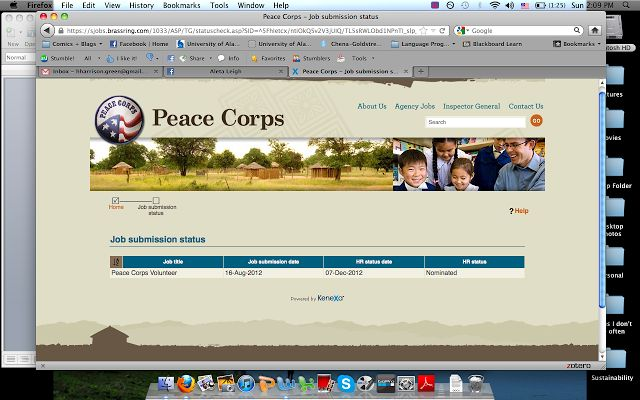 Applying to the peace corps