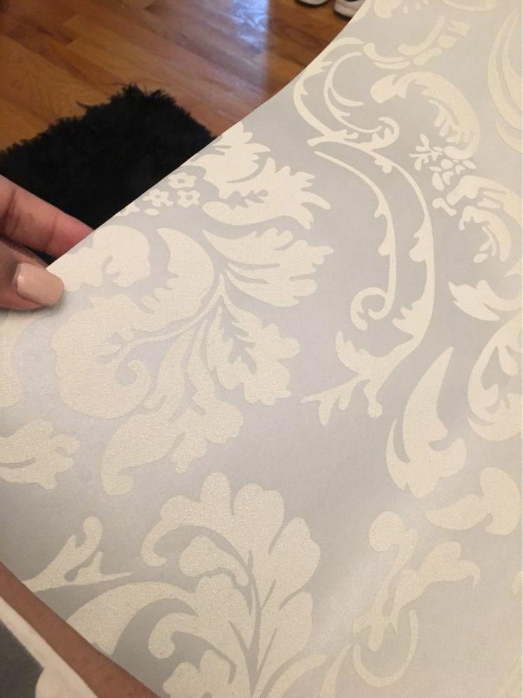 NonTessuto Europeo Lucido Alla Moda Blu Beige Bianco