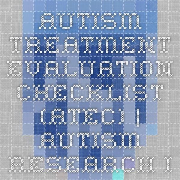 Autism Treatment Evaluation Checklist (ATEC) | Autism Research Institute