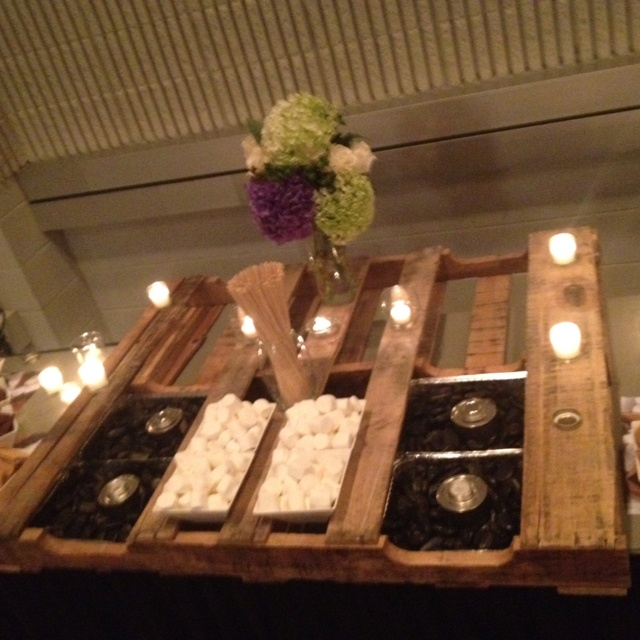 Pallet Smores bar  Wedding Smores Bar  Smores bar Wedding desserts Wedding