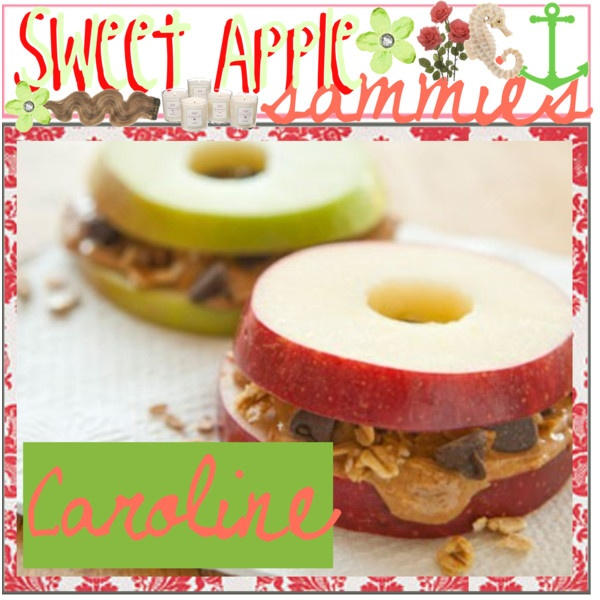 sweet apple sammies, its a healthy yet sweet treat and easy to