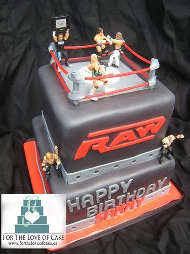 wwe boys birthday cake by www.fortheloveofcake.ca, via Flickr