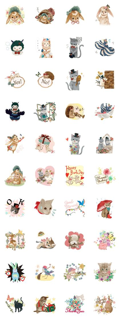 """It's a stamp of cute animals of """"La Petite Poupee"""". There's a stamp for adult women here. It not only cute, it is very soothing to! I promise to make you happy."""