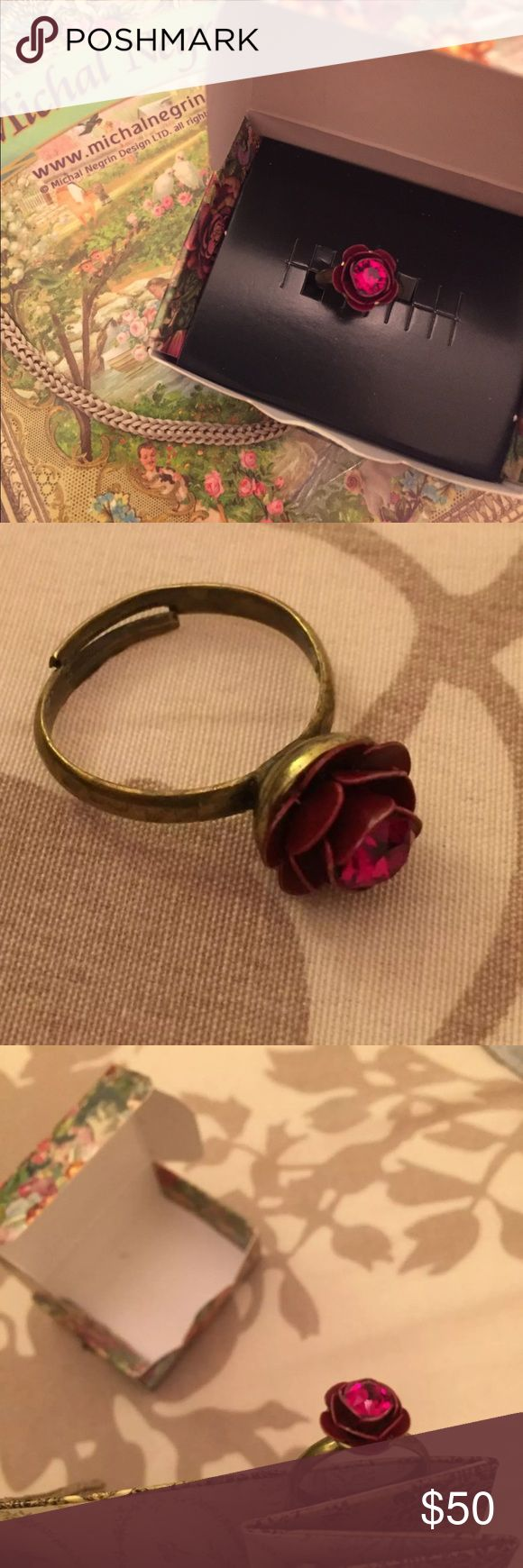 Spotted while shopping on Poshmark: Michal Negrin Red Rose Ring Authentic! #poshmark #fashion #shopping #style #Michal Negrin #Jewelry