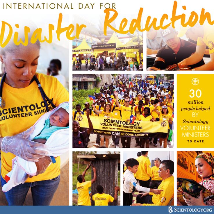 Today the Church of #Scientology recognizes the UN's International Day for Disaster Reduction, which was started in 1989 with the approval by the United Nations General Assembly. The International Day for Disaster Reduction is a day to celebrate how people and communities are reducing their risk to disasters and raising awareness about the importance of disaster risk reduction. To learn how the Church of Scientology supports disaster reduction and relief programs worldwide, visit…