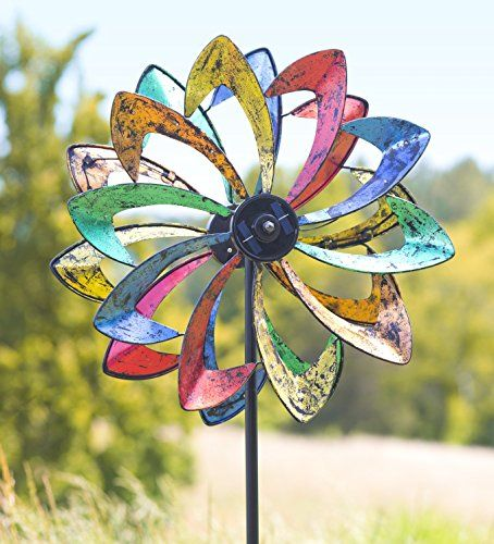 Superior Solar LED Flower Wind Spinner, In Multicolored Plow U0026 Hearth Exclusive U2013  Hereu0027s Our Latest