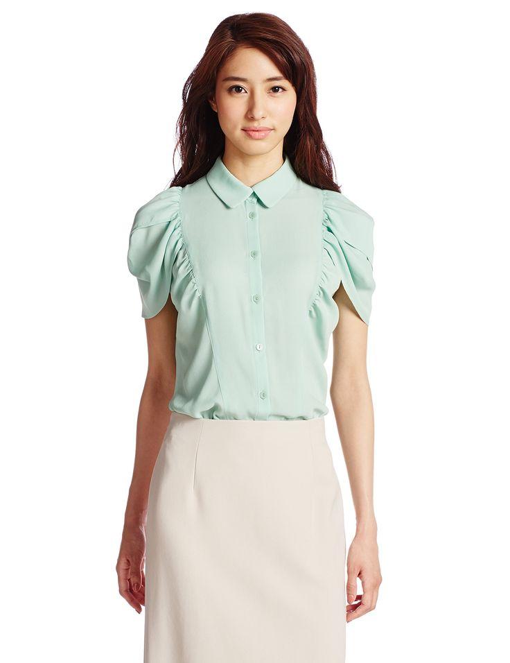Amazon.co.jp: (イジュ イラン イラン)Iju YLANG YLANG ジェントルジョーゼット シューブラウス BLNYGM0257 60 緑 M: 服&ファッション小物通販