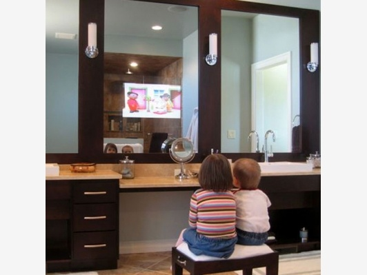 Contemporary Art Websites Bathroom Mirrors with Built In TVs Home and Garden Design Ideas Good access