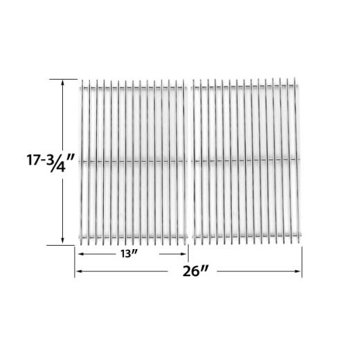 2 PACK STAINLESS STEEL COOKING GRID REPLACEMENT FOR PERFECT FLAME SLG2007B, SLG2007BN, 63033, 64876 AND BBQTEK GSF2818K, GSF2818KL GAS GRILL MODELS Fits Compatible GREAT OUTDOORS Models : D450 , DC450 , DG450