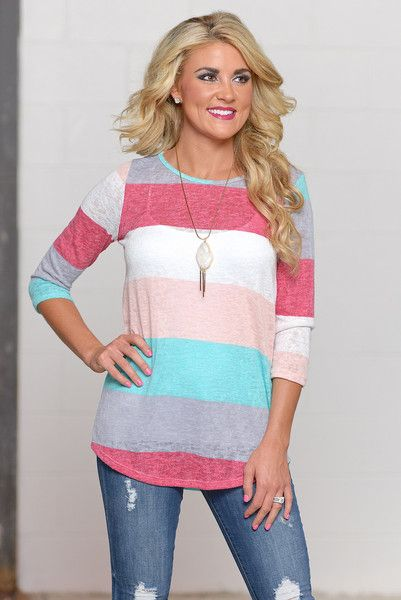Whatever The Day Brings Color Block Top by Closet Candy Boutique #fashion #ccb