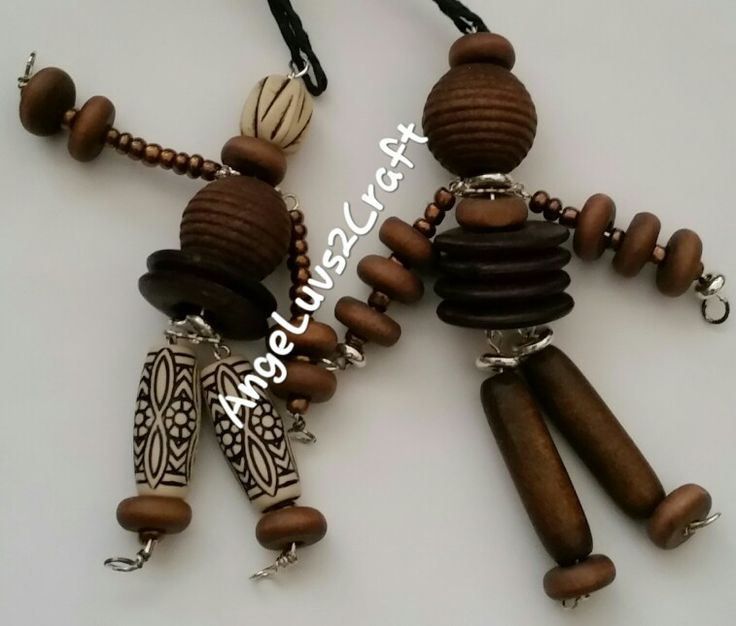 Hade made by AngeLuvs2Craft. Angie's wooden beaded cugly's (cute-ugly) keyrings