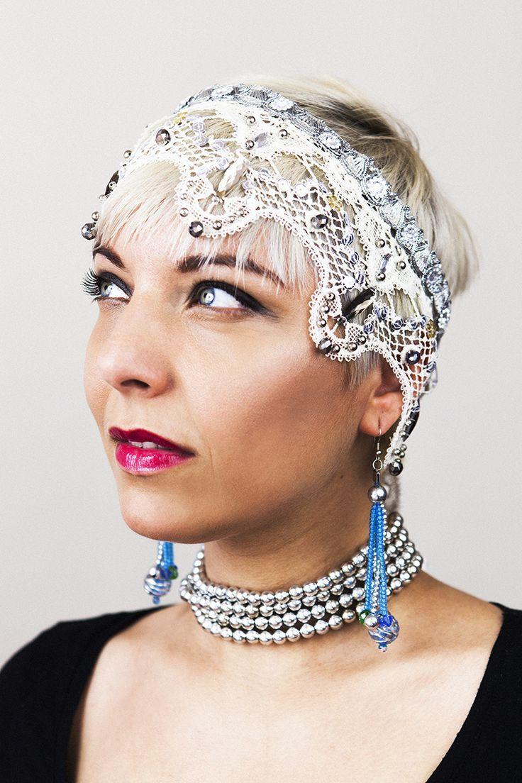 Vintage bridal headpiece.