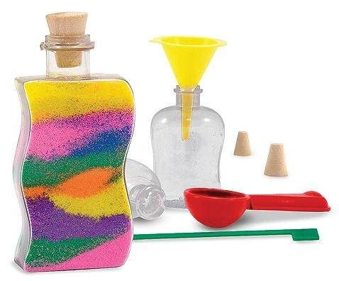 crea botellas decorativas c polvo de colores melissa u doug
