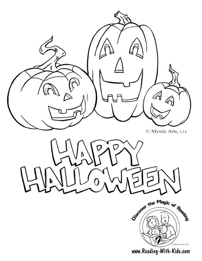free halloween coloring pages and learning activities - Pictures Of Halloween Drawings