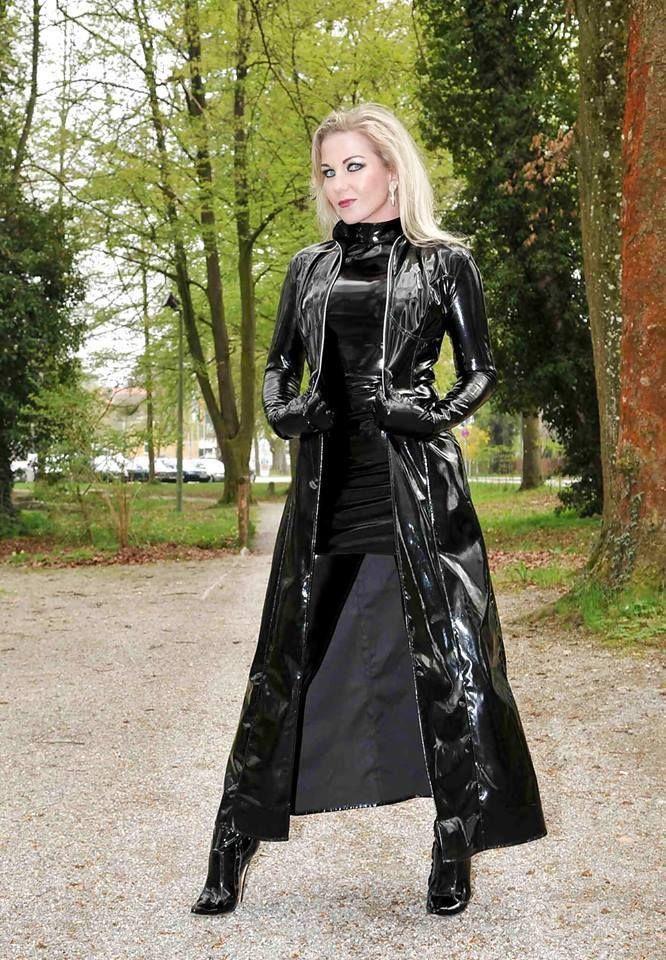 Black Pvc Raincoat Heike Latex Dress Pvc Raincoat
