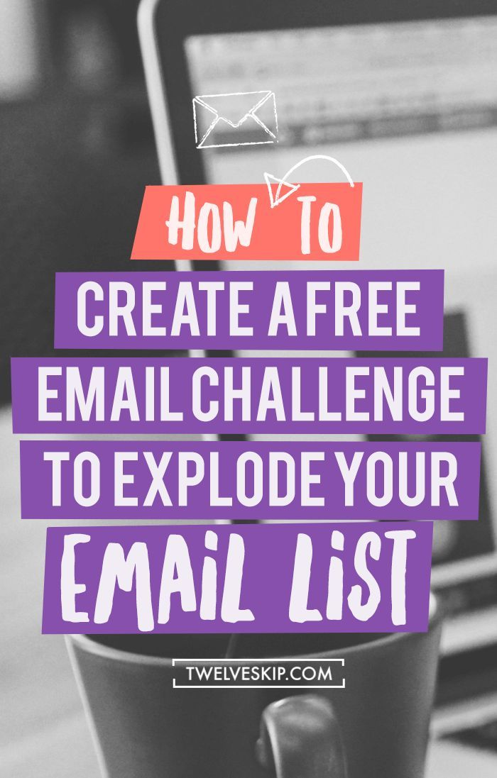 How To Grow Your Email Subscribers Using Email Challenge. Click the PIN to learn how you can explode your email list using this clever technique! | list building | email marketing tips
